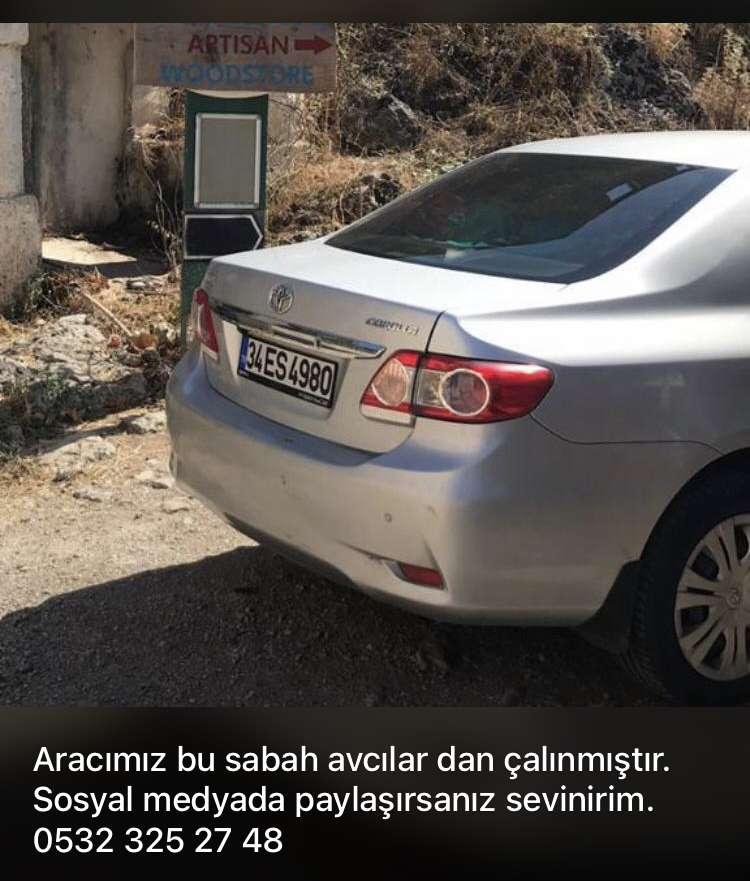 ARACIM ÇALINDI!!!